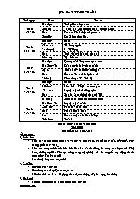 Giáo án các môn học lớp 5 - Tuần 01 (chuẩn ki