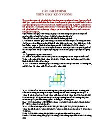 Toán 5 - Cắt ghép hình trên giấy kẻ ô vuông