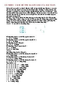 Toán 5 - Có nhiều cách để tìm ra lời giải của