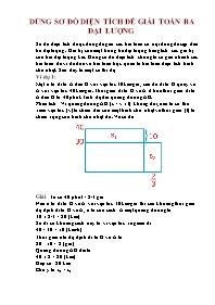 Toán 5 - Dùng sơ đồ diện tích để giải toán ba