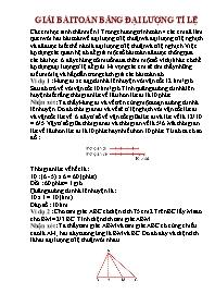 Toán 5 - Giải bài toán bằng đại lượng tỉ lệ