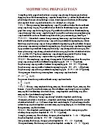 Toán 5 - Một phương pháp giải toán
