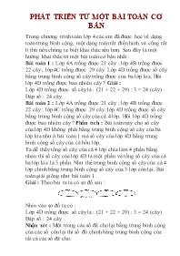 Toán 5 - Phát triển từ một bài toán cơ bản