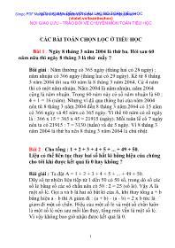 Toán học 5 - Các bài toán chọn lọc ở tiểu học