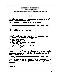 Đề thi học sinh giỏi khối lớp 5 - Môn thi Tiế
