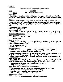 Giáo án các môn học khối 5 - Tuần 01 (chi tiế
