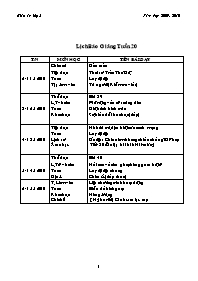 Giáo án các môn khối 5 - Tuần học 20