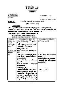 Giáo án các môn khối 5 - Tuần số 16 (chi tiết