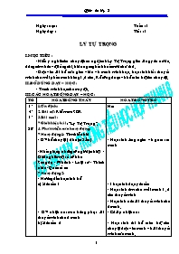 Giáo án Kể chuyện lớp 5 - Tiết 1 đến tiết 34
