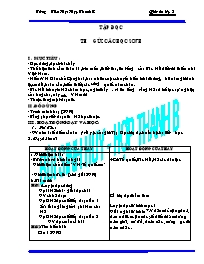 Giáo án môn Tiếng Việt 5 - Trường Tiểu Học Hợ