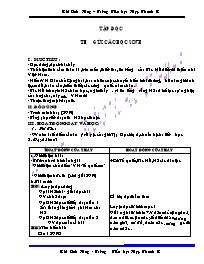 Giáo án Tiếng Việt lớp 5 - Trường Tiểu học Hợ