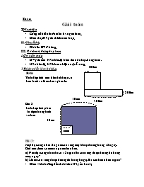 Giáo án Toán học 5 - Bài: Giải toán