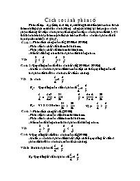 Giáo án Toán học 5 - Cách so sánh phân số