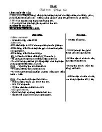 Giáo án Toán học 5 - Tiết 151 đến tiết 155