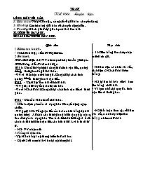 Giáo án Toán học 5 - Tiết 166 đến tiết 170