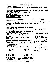 Giáo án Toán học 5 - Tiết 71 đến tiết 75