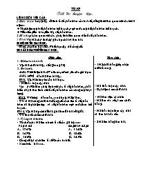 Giáo án Toán học 5 - Tiết 76 đến tiết 80