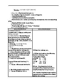 Giáo án Toán khối 5 - Bài dạy: Luyện tập chun