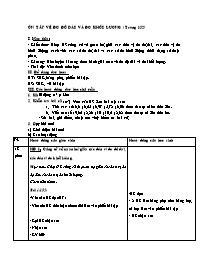 Giáo án Toán khối 5 - Ôn tập về đo độ dài và
