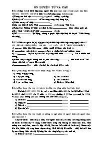 Tiếng Việt 5 - Ôn luyện từ và câu