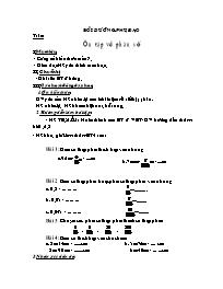 Toán 5 - Ôn tập về phân số