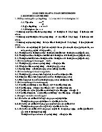 Toán khối 5 - Số đo thời gian và toán chuyển