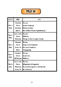 Giáo án Tổng hợp các môn học lớp 5 - Tuần 10