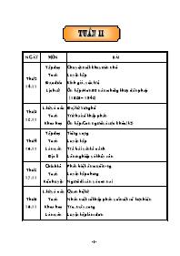 Giáo án Tổng hợp các môn học lớp 5 - Tuần 11