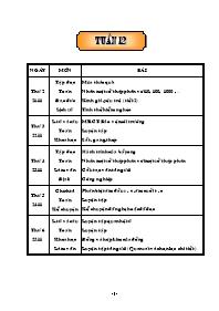 Giáo án Tổng hợp các môn học lớp 5 - Tuần 12