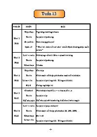 Giáo án Tổng hợp các môn học lớp 5 - Tuần 13