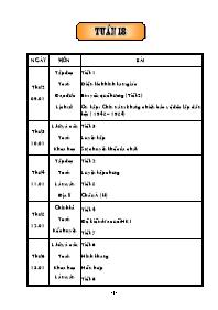 Giáo án Tổng hợp các môn học lớp 5 - Tuần 18