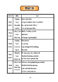 Giáo án Tổng hợp các môn học lớp 5 - Tuần 23