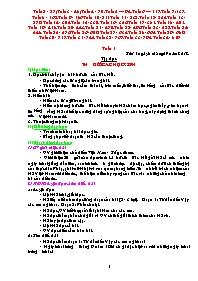 Giáo án Tổng hợp môn học lớp 5 (cả năm)