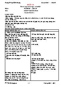 Giáo án Tổng hợp môn học lớp 5 - Tuần 30 - Tr