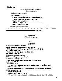 Giáo án Tổng hợp môn lớp 5 - Tuần số 11 đến t