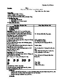 Giáo án Âm nhạc 5 - Tiết 2: Học hát: Bài Reo