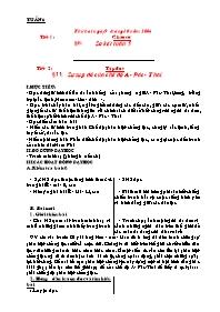 Giáo án các môn học khối 5 - Kì I -Tuần lễ 6