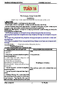 Giáo án các môn học khối 5 - Tuần 15, 16, 17 - Trường tiểu học Hải Vĩnh