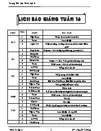 Giáo án các môn học khối 5 - Tuần 16 - Trường Tiểu học Thuận Lợi A
