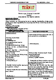 Giáo án các môn học khối 5 - Tuần 17 - Võ Thị
