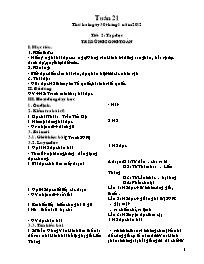 Giáo án các môn học khối 5 - Tuần dạy 21 (chu
