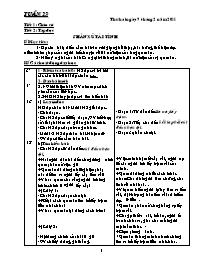 Giáo án các môn học khối 5 - Tuần dạy số 23 (