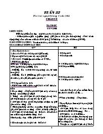 Giáo án các môn học khối 5 - Tuần học 32 (chi