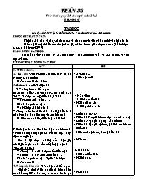 Giáo án các môn học khối 5 - Tuần học 33 (Chi