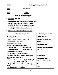 Giáo án các môn học khối 5 - Tuần học thứ 15 (chuẩn kiến thức)