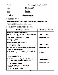 Giáo án các môn học khối 5 - Tuần lễ thứ 22