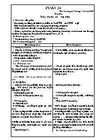 Giáo án các môn học khối 5 - Tuần số 16 (chuẩn kiến thức)