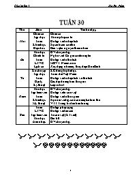 Giáo án các môn học khối 5 - Tuần số 30 - Bùi
