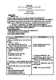 Giáo án các môn học khối 5 - Tuần thứ 28 (chi