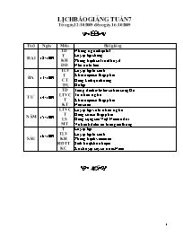 Giáo án môn Toán học 5 - Tuần số 07